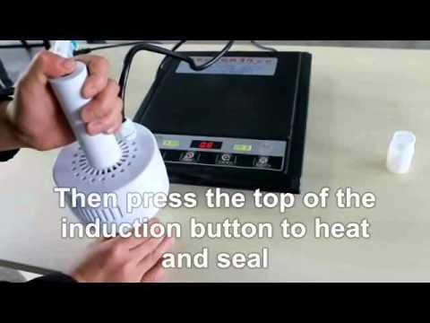 Electromagnetic induction aluminum foil bottle cap sealing gasket heat sealing machine