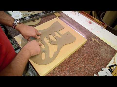 Building a Strat Guitar body Luthier Build process Stratocaster