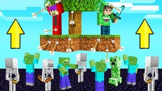 SKYBLOCK But MOBS Are RISING EVERY MINUTE! (Creepy)