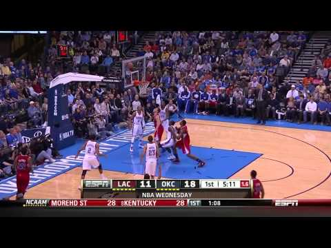 2012-2013 NBA Season - Game 1 Oklahoma City Thunder vs Los Angeles Clippers Part 2