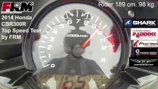 2014 Honda CBR300R Top Speed Test by FRM