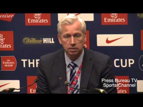 Alan Pardew reaction Watford vs Crystal Palace FA CUP