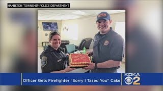 One Sweet Apology: Officer Says She's Sorry For Tasing Firefighter By Baking Him A Cake