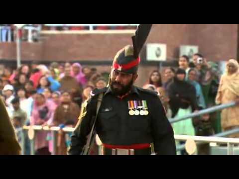 Wagah Attari Border Closing Ceremony video