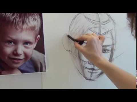 Схема рисования головы.