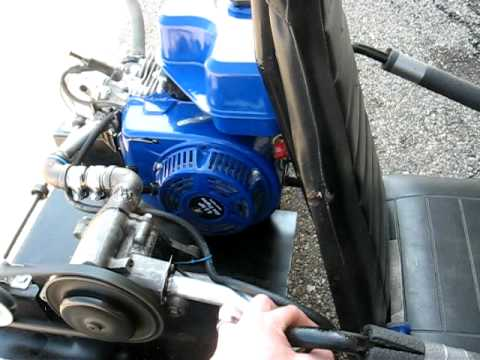 Supercharged go-kart engine running- Honda clone- first attempt.