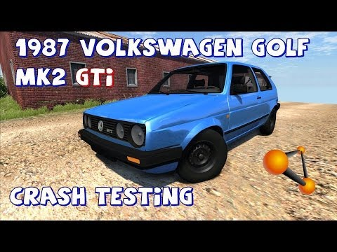 BeamNG Drive Alpha 1987 Volkswagen Golf Mk2 GTi (Beta) Crash Testing #50 HD