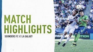 HIGHLIGHTS: Seattle Sounders FC at LA Galaxy | September 23, 2018