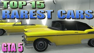 GTA 5 ONLINE - TOP 15 RAREST CARS (ALL STORABLE) - UBER RARE GANG CARS - PS3