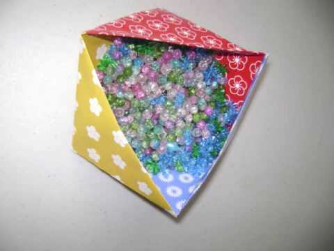 Easy Arts & Crafts: How to make a triangular Japanese box