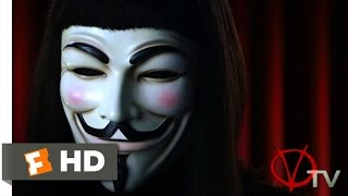 V for Vendetta (2005) - V on TV Scene (2/8) | Movieclips