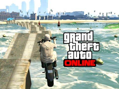 GTA V Online - Rampas sobre a ÁGUA! Desafio dos TSUNAMIS!