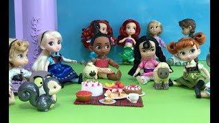 Princess Kids! Elsa Anna Snow White Ariel Rapunzel! Dream Palace Dolls House Videos in English!