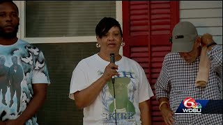 Mother of man killed in mass shooting speaks at Night Out Against Crime