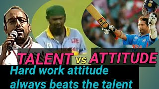 Difference between talent and attitude speech at temple of education