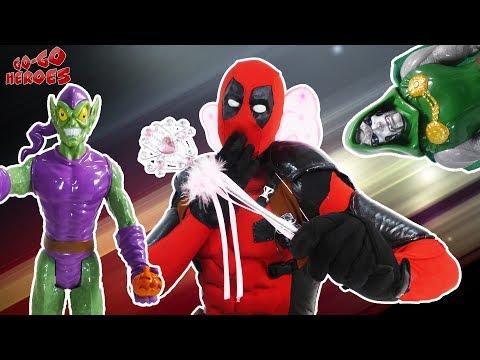 ДЭДПУЛ спасает супергероев! ДОКТОР ДУМ и ЗЕЛЁНЫЙ ГОБЛИН злодействуют!