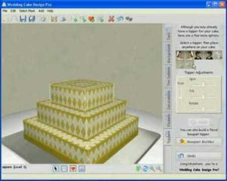 Cake Design Pro : My First Wedding Cake Design on Wedding Cake Design Pro ...