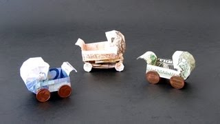Money Origami Instructions: Money Baby Buggy (dominik Meiner)