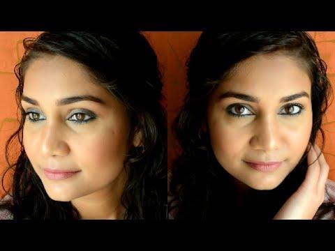 Simple everyday Blue Smokey Eyes | Beginners Makeup Step By Step in Hinglish| Nidhi Katiyar