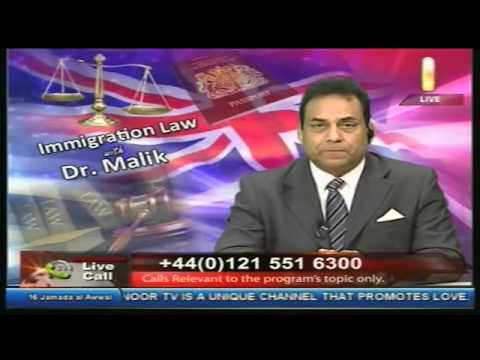 Noor TV Immigration Law With Dr Malik  7th March 2015