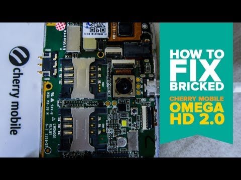 How to Unbrick Cherry Mobile Omega HD 2.0 MT6589 Mediatek SmartPhone [Tagalog]