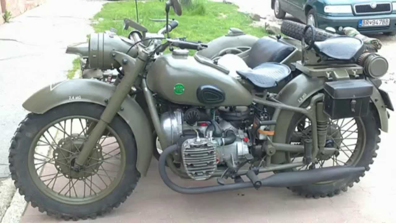 Veteran Military Motorcycle With Sidecar Youtube