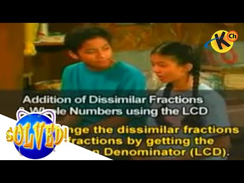 ADDITION OF DISSIMILAR FRACTIONS AND WHOLE NUMBERS (Solved)