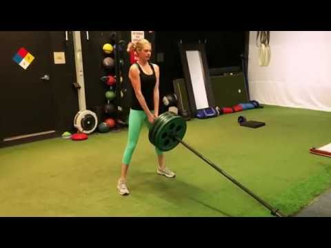 Kate Upton Landmine Squat/Squat Jump Combo