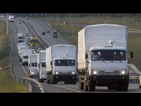 Russian aid convoy dispute continues in Ukraine