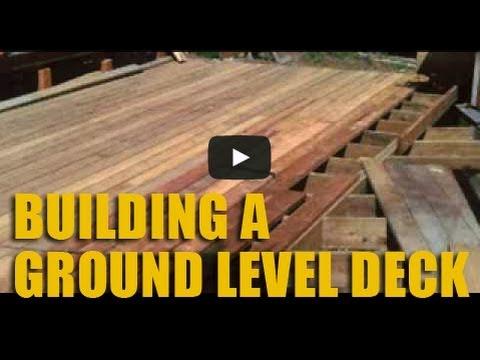 Build A Ground Level Cedar Deck YouTube