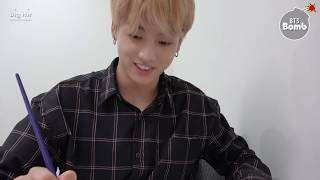 [BANGTAN BOMB] Concentrating on drawing JK - BTS (방탄소년단)