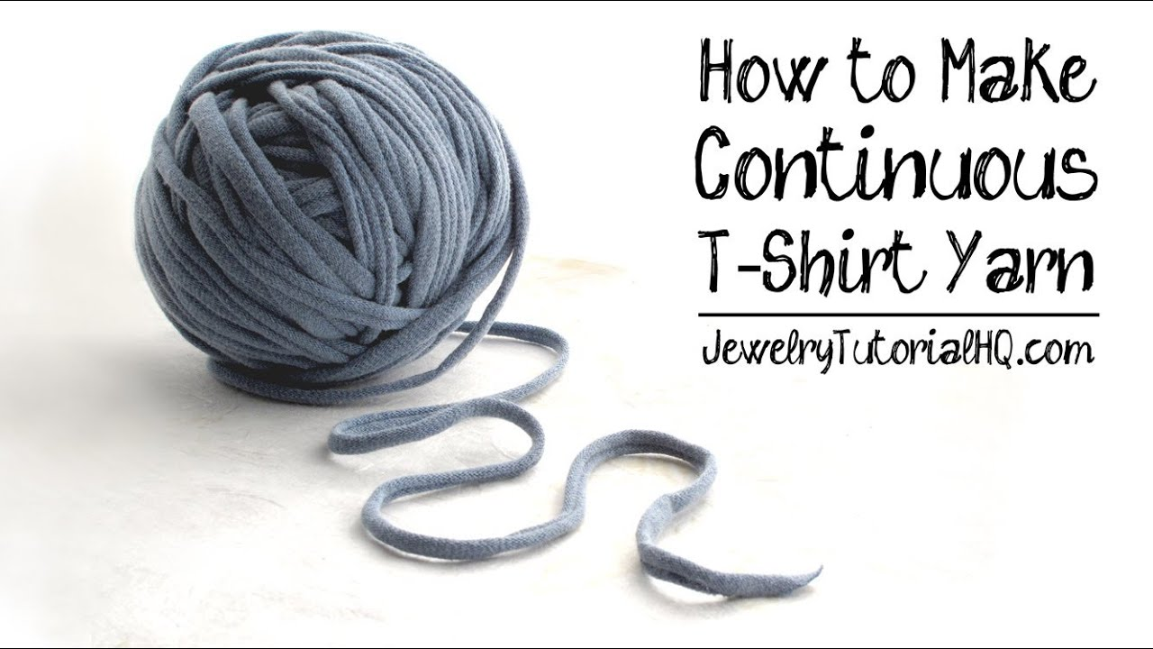 How to make t shirt yarn continuous yarn for craft for How to make rugs out of old t shirts