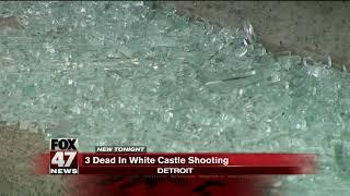 Triple fatal shooting at White Castle on Detroit's west side