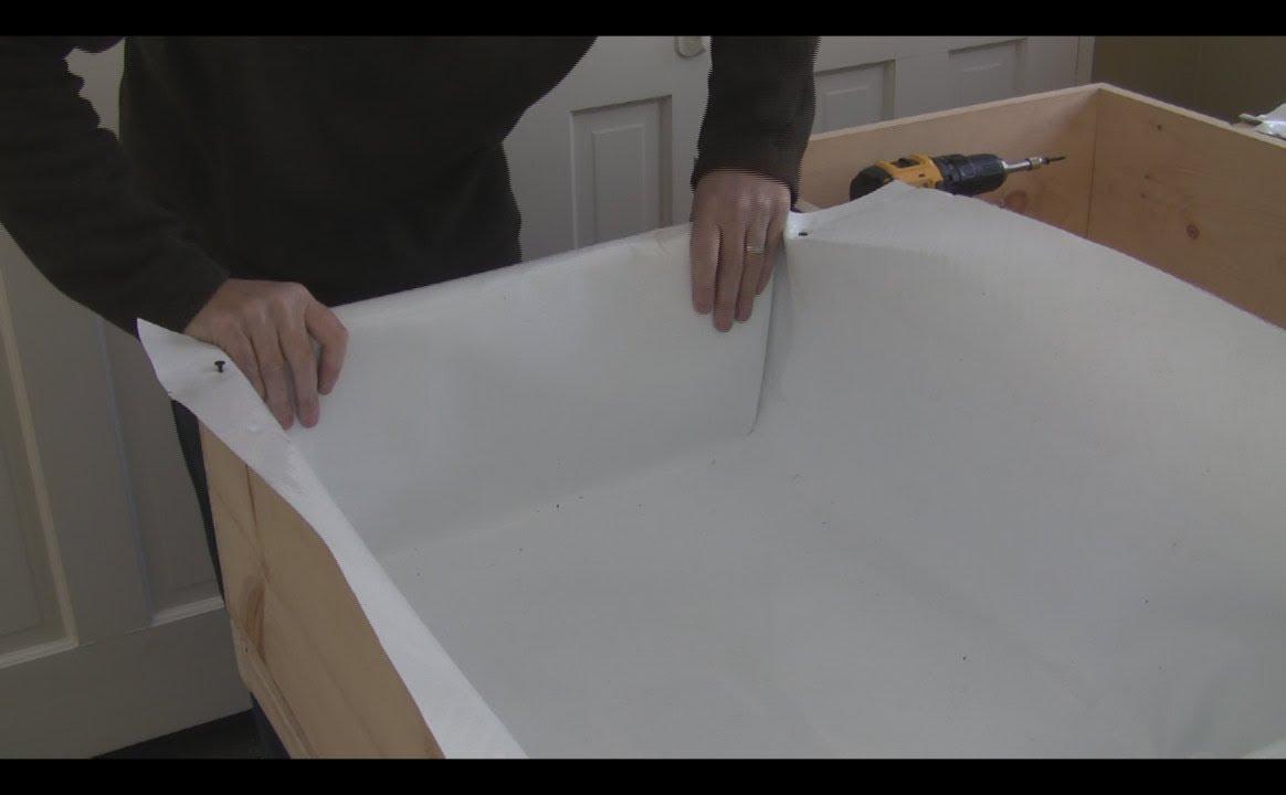 Aquaponics Build Episode 3 Dura Skrim Grow Bed Liner