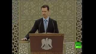 الرئيس السوري بشار الأسد يؤدي اليمين الدستورية لولاية رئاسية جديدة مدتها 7سنوات