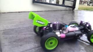 Rc nitro buggy burn out