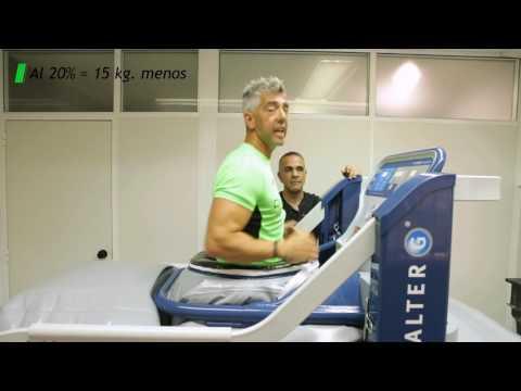 Correr con una lesión - Máquina antigravedad AlterG