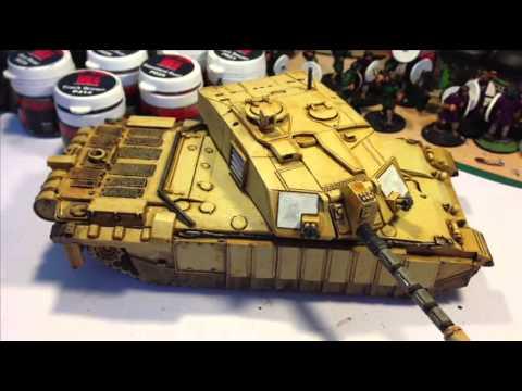 How to: Painting Modern British Desert Armour
