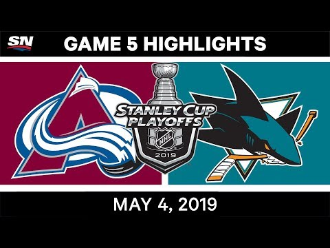 NHL Highlights | Avalanche Vs. Sharks, Game 5 – May 4, 2019