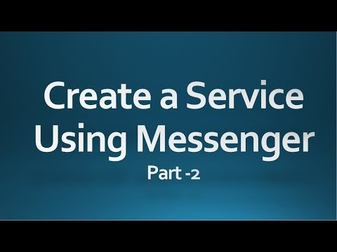 Android tutorial for beginners -75- Create a Service using Messenger...