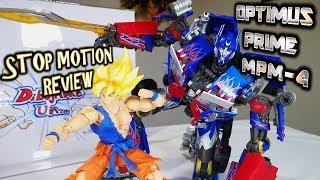 OPTIMUS PRIME MPM-4 Review. Goku y Optimus vs Nemesis y megatron Stop Motion Action Video