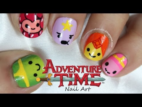 Adventure Time Princess Nail Art