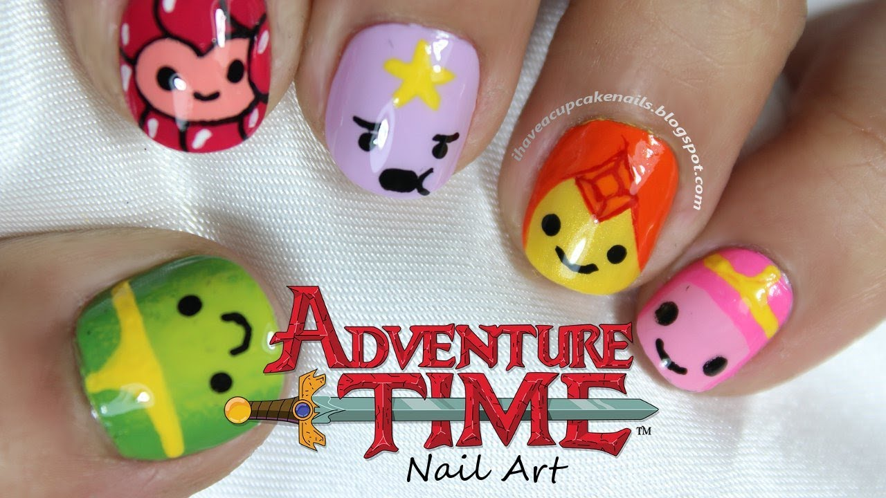 Adventure Time Princess Nail Art - YouTube