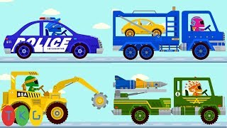 Lắp Ráp Xe Cảnh Sát, Xe Xới Đất, Xe Oto Tải - Police Car | TopKidsGames (TKG) 276
