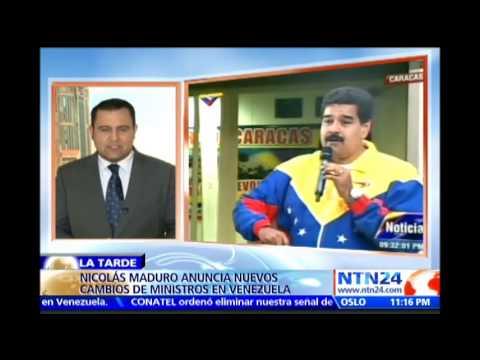 Nicolás Maduro nombra nuevo ministro de Defensa y nueva ministra del Interior, Justicia y Paz