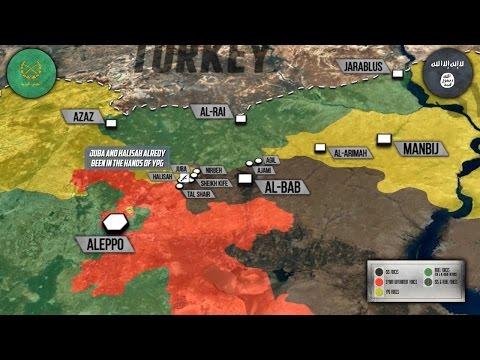 25 ноября 2016. Военная обстановка в Сирии. САА и YPG воюют против Турции. Русский перевод.
