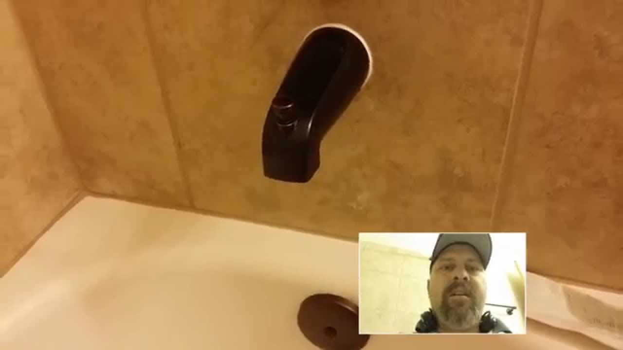 How To Fix A Loose Tub Spout Youtube