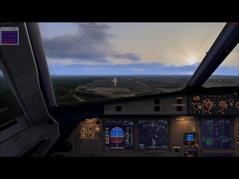 FSX Full flight from London to Paris (EGLL - LFPG) on Airbus A320 Air France