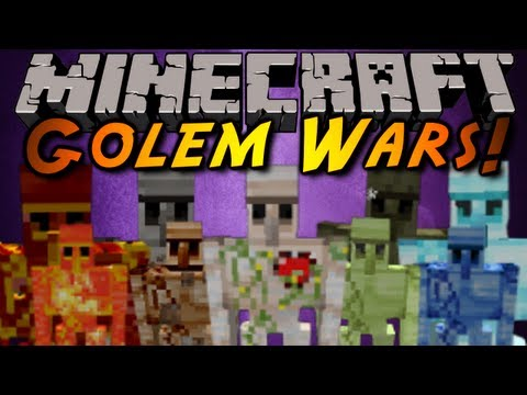 Minecraft Mod Showcase : GOLEM WARS!