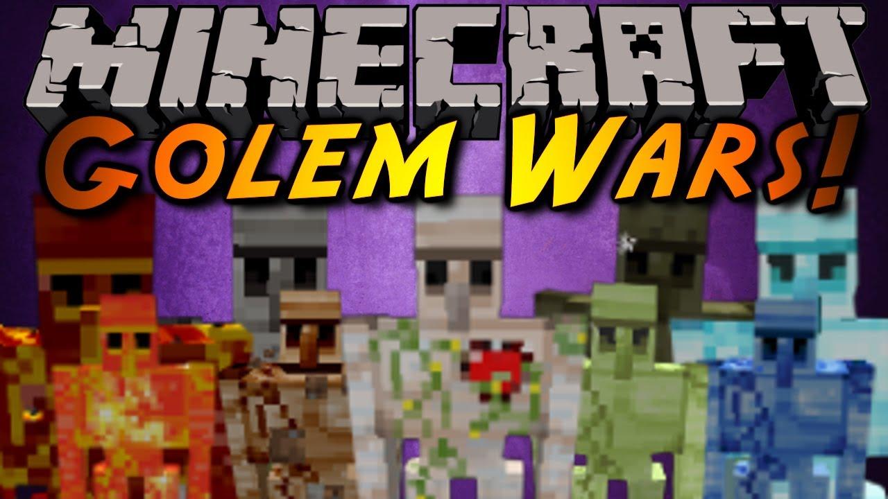 Minecraft mod showcase golem wars youtube